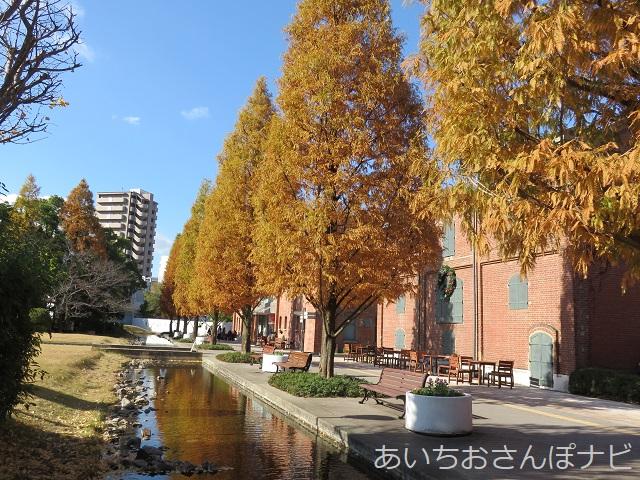 名古屋ノリタケの森の赤レンガの工場前