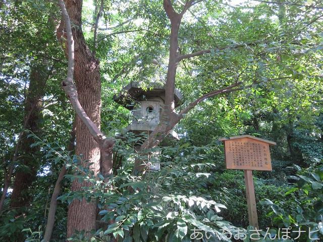 名古屋市熱田神宮の佐久間燈籠