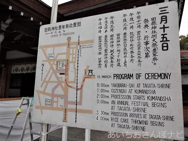 小牧市田県神社豊年祭の看板