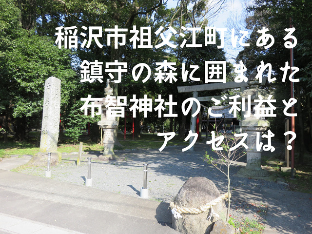 稲沢市祖父江町の布智神社の西鳥居