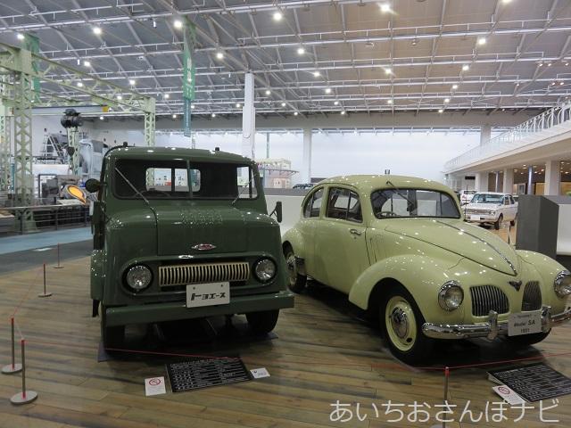名古屋市トヨタ産業技術博物館の昭和初期の乗用車