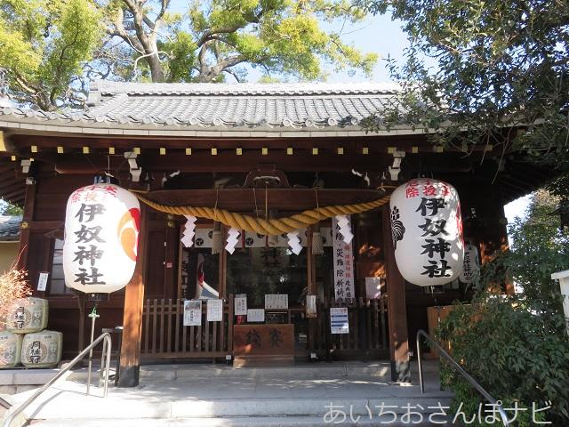 伊奴神社の拝殿