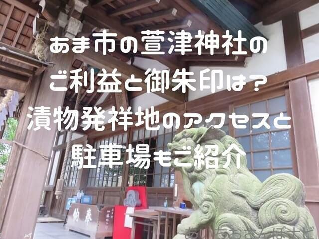 愛知県あま市萱津神社の本殿