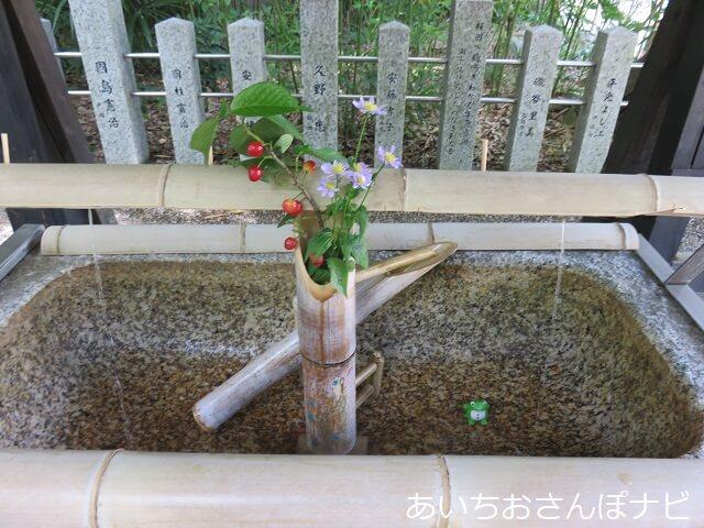 名古屋市南区富部神社の手水舎