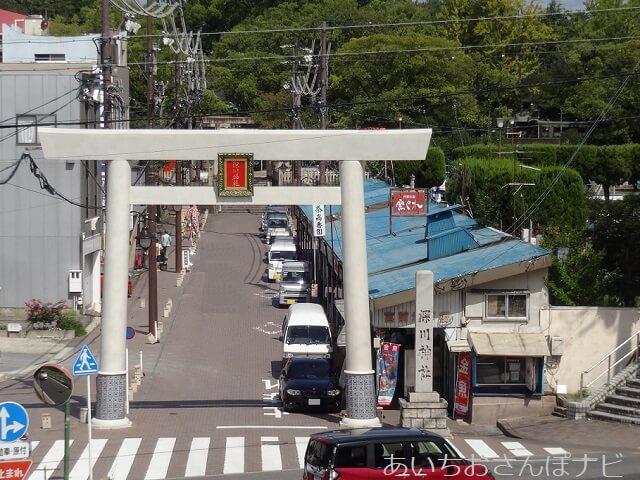 瀬戸市深川神社参道前の一の鳥居