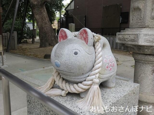 名古屋市北区大井神社の安産犬張子