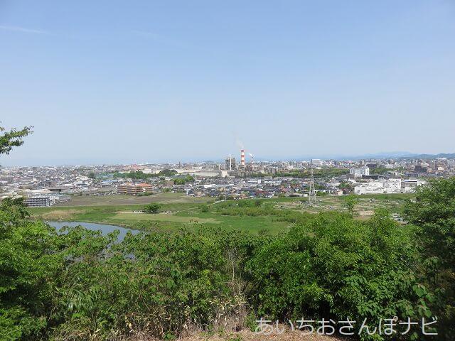名古屋市守山区龍泉寺城展望台からの眺め