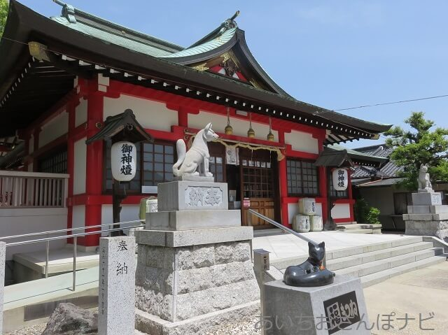 名古屋市守山区の生玉稲荷神社の拝殿