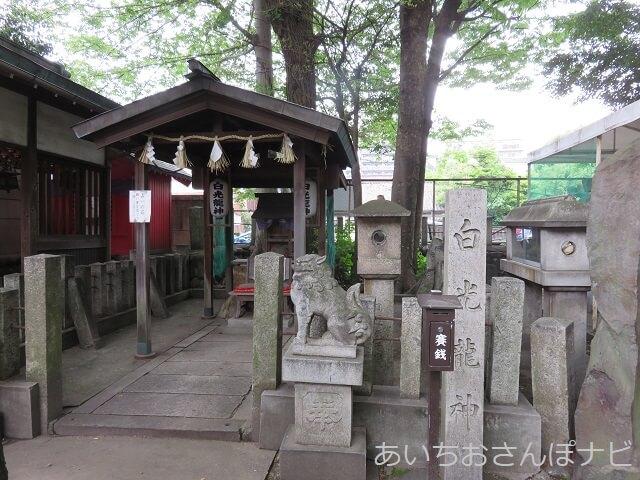 名古屋市中川区塩釜神社の白光龍社