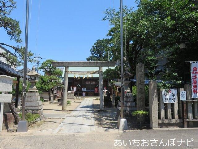 名古屋市東区の七尾天神社の境内