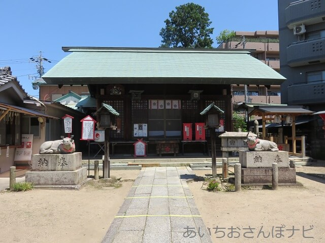 名古屋市東区の七尾天神社の拝殿