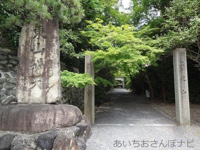 名古屋市千種区桃厳寺の入り口