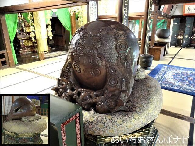 名古屋市千種区桃厳寺にある巨大木魚