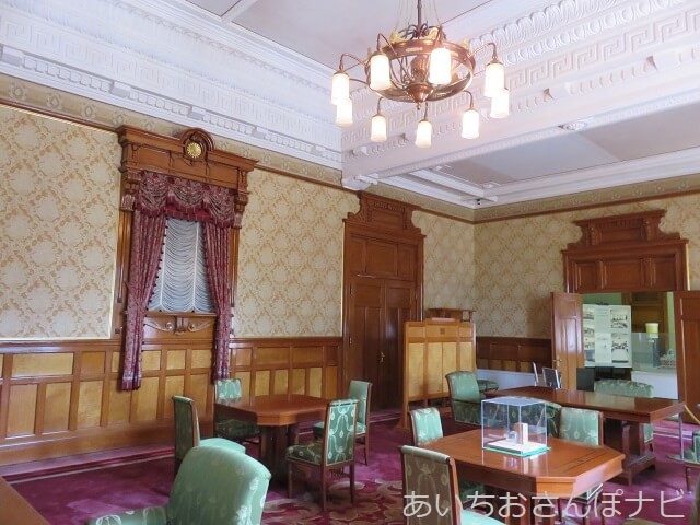 名古屋市市政資料館の復元会議室