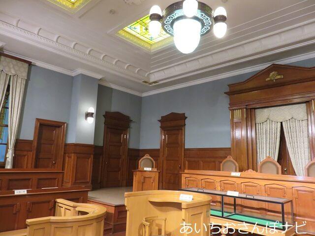 名古屋市市政資料館の陪審法廷
