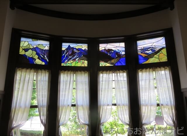 名古屋市東区の文化のみち二葉館のステンドグラス