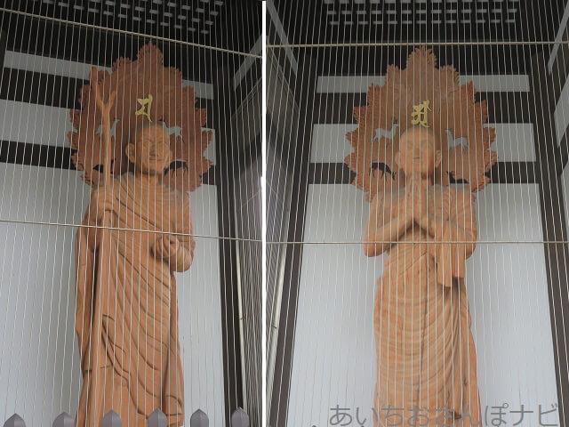 名古屋市千種区日泰寺の山門の像