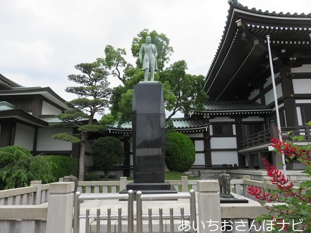 名古屋市千種区日泰寺のタイ国王の像