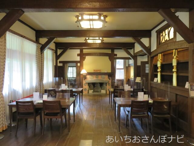 名古屋市千種区揚輝荘の聴松閣の旧食堂