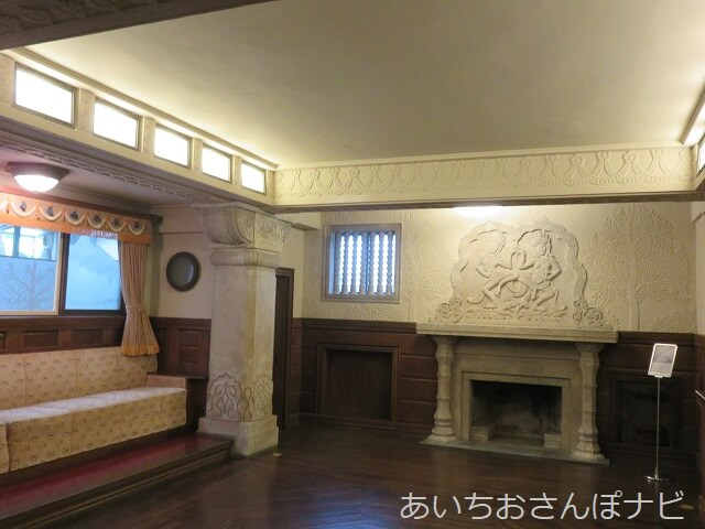 名古屋市千種区揚輝荘の聴松閣地下の暖炉