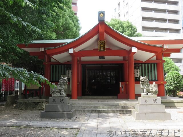 名古屋市中区泥江縣神社の拝殿
