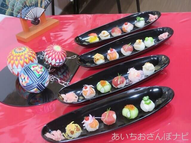 犬山城下町の伊勢屋砂おろしのてまり寿司