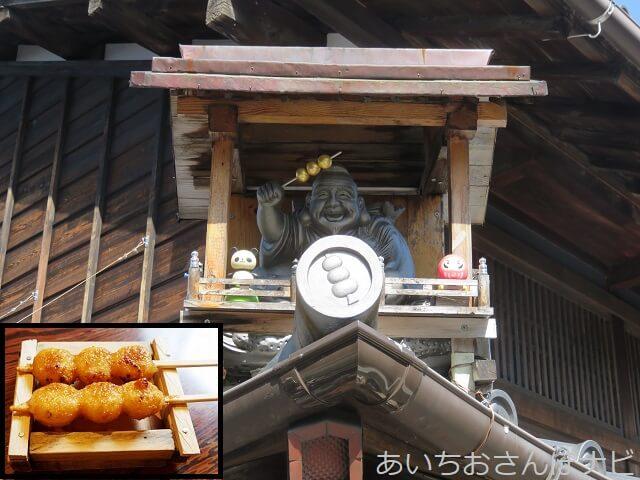 犬山城下町の山田五平餅の屋根神