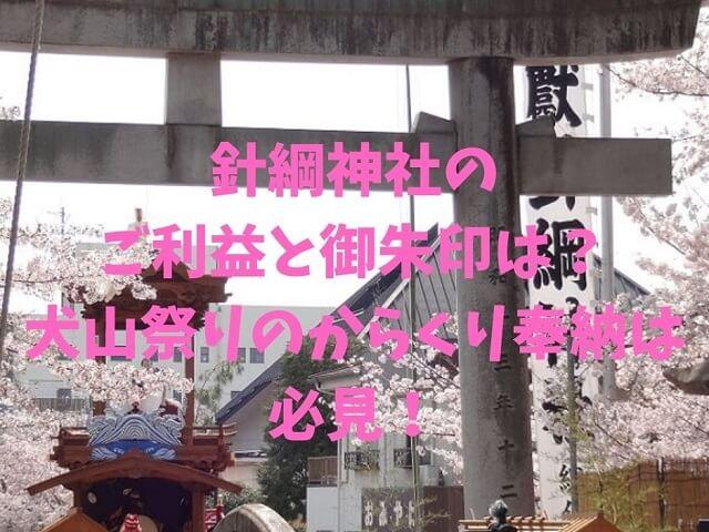 針綱神社の例大祭の犬山祭り