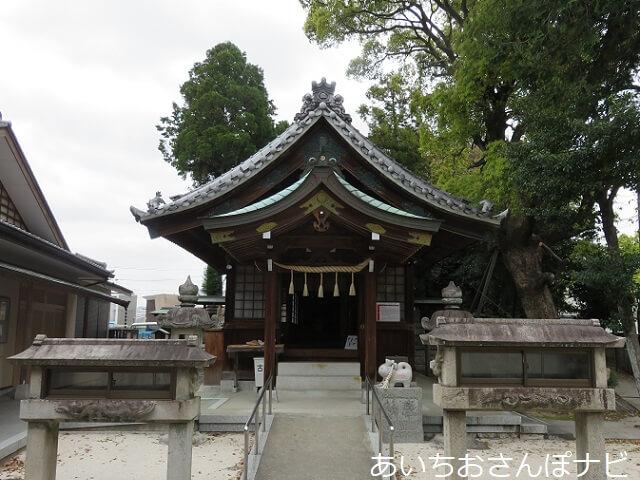 名古屋市北区大井神社の拝殿