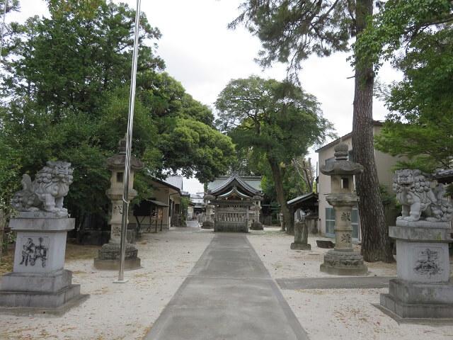 名古屋市北区大井神社の参道