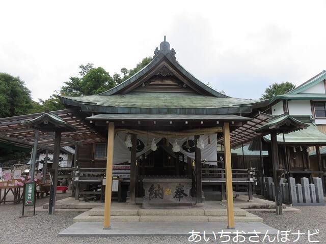 犬山市針綱神社の拝殿