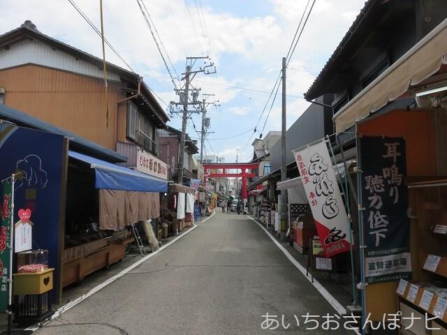 岐阜県海津市のおちょぼ稲荷参道