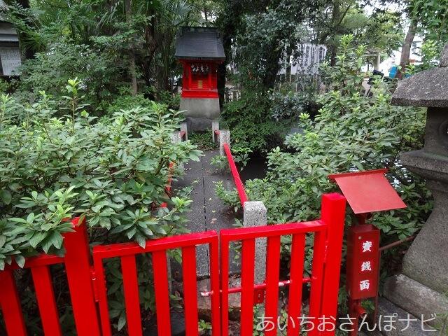 名古屋市中区闇之森八幡社の池