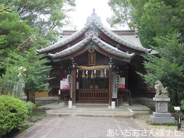 名古屋市日置神社の拝殿