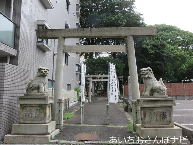 名古屋市日置神社の西の鳥居