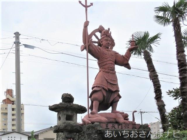 名古屋市熱田区秋葉山圓通寺の毘沙門天像
