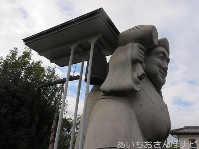愛知県小牧市妙林寺の鐘つき大黒天